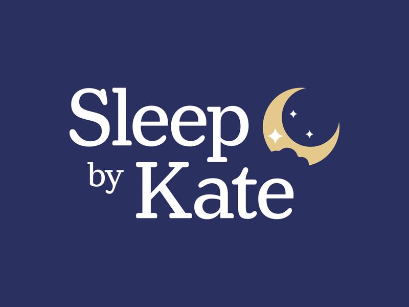 Sleep By Kate uxdesign uidesign star moon sleep website logo branding design