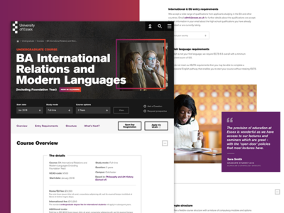 University of Essex - Website Redesign