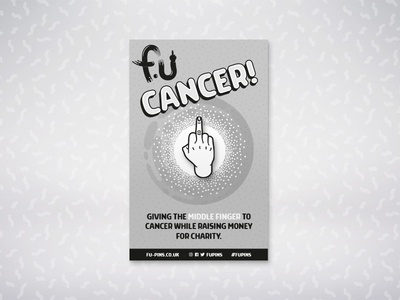 FU - Cancer Pin middle finger pin badge charity cancer fu pin fu