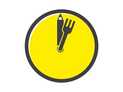 Lunch Time Briefs - Logo minimal vector clock logo