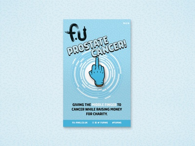 FU - Prostate Cancer Pin prostate cancer middle finger pin badge charity cancer fu pin fu