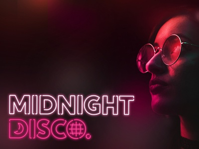 Midnight Disco - Sub Brand vector midnight logo branding disco neon