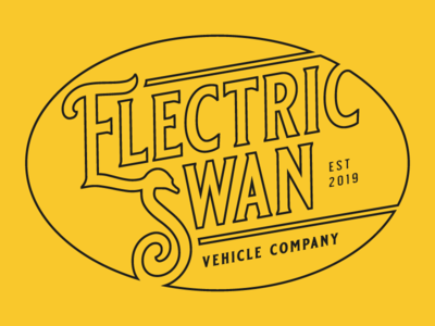 Electric Swan Logo vector swan electric logo design