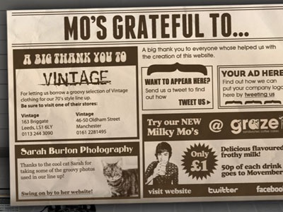 Mo's Wanted Movember Website - Thanks To website charity movember tash design