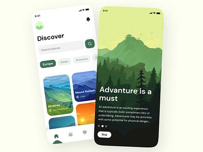 Travel App illustration design app ux ui