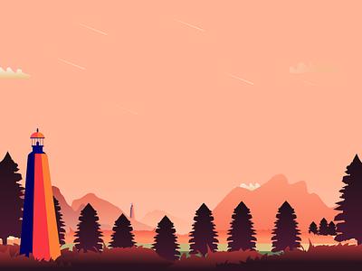 Landscape illustration✨ landscape draw illustration