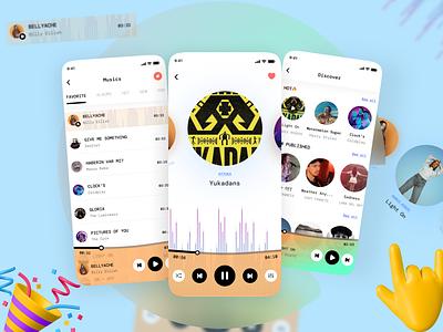Softy Music player 🔊 draw illustration ux app design ui
