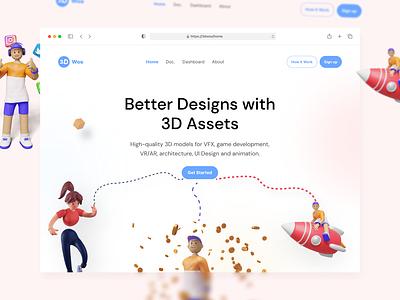 3D Web draw illustration design app ux graphic design 3d ui