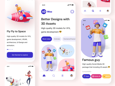 Marketplace / Figma file available branding draw illustration design ux app graphic design 3d ui