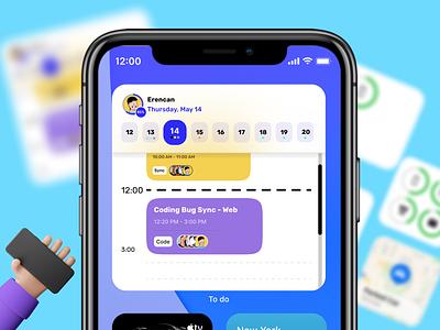 Task management -  iOS Widget 💙 ios mobile task ux widgets apple 3d ui