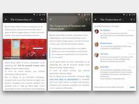 Mobile Blog App UI
