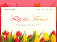 Experimental Flower Website Header