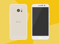 [Free Vector] HTC Flat Device Model