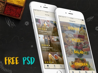Freebie: iOS Restaurant Finder App ui interface free psd app food restaurant ios freebie