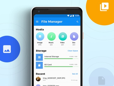 Files Android Concept concept ui typography android ios interface file manager file