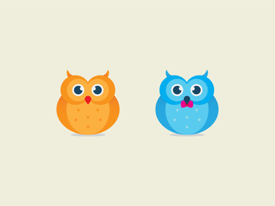 Owl Couple birds character art illustrator illustration owl