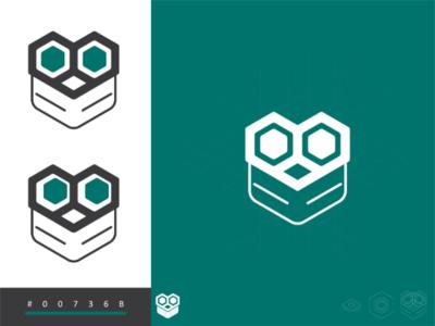 E-Owl tech rasakolko flaticon character education geometric owl design logo