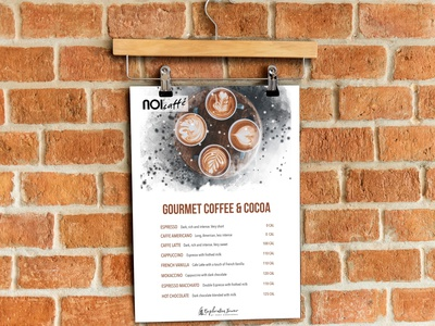 Coffee Menu Design layout design menu design photoshop illustration minimal branding advertising identity clean art design