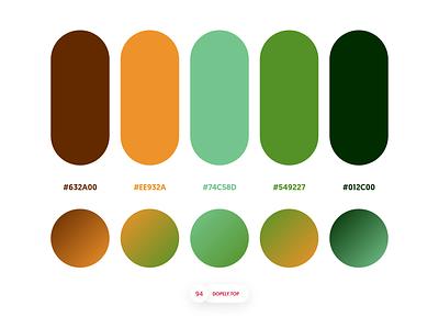 Dopely Colors #94 colorpalette logo palette ui palette palettes colors