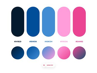 Dopely Colors #95 color schemes ui palette gradients logopalette colorpalette uipalette colors