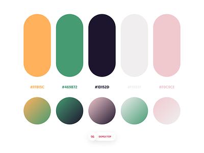 Dopely Colors #96 ui palette uipalette logopalette gradients color schemes colors colorpalette