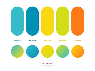 Dopely Colors #97 ui palette uipalette logopalette gradients color schemes colors colorpalette