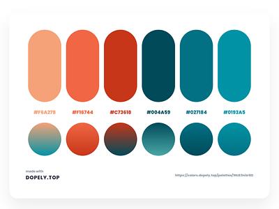 Daily Dose of Colors Via Dopely color interaction interface illustration branding color scheme color palette gradient colors ux ui