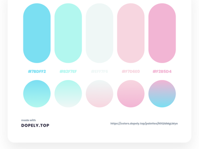 Daily Dose of Colors Via Dopely product color ui interactions branding mobile illustration gradient design colors