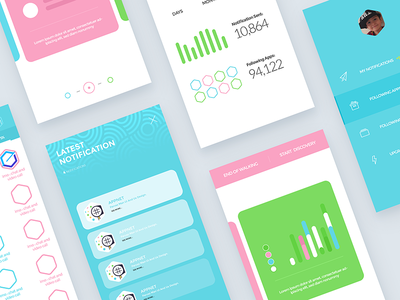Appnet ios Application ux ui ios-app ios interface interaction colors candy-colours