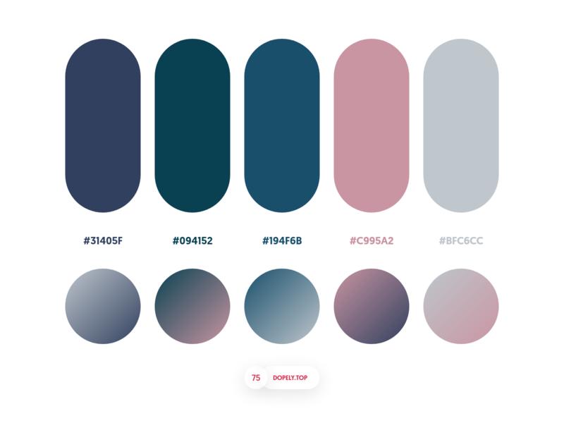 Dopely Colors #75 dopely mrpugo gradient color palette plaette adobexd colors