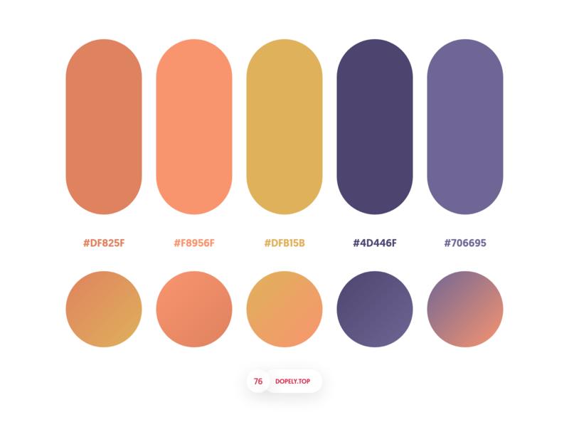 Dopely Colors #76 gradient gradients palette colors dopely