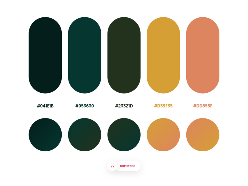 Dopely Colors #77 gradients palettes mrpugo dopely colors