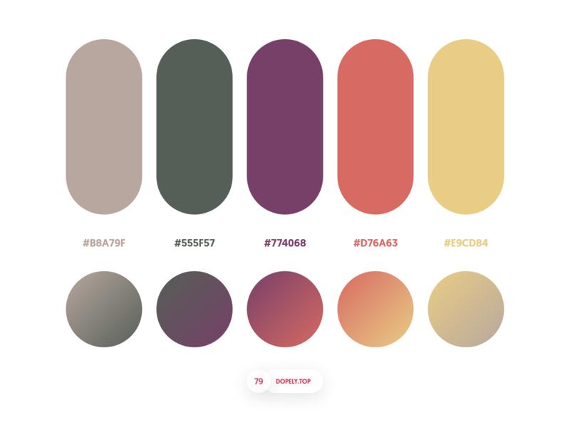 Dopely Colors #79 colour colors dopely mrpugo gradient gradients palettes color palette adobexd