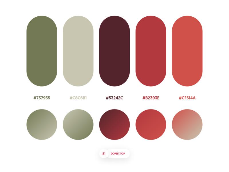 Dopely Colors #81 gradient palette colorplaette