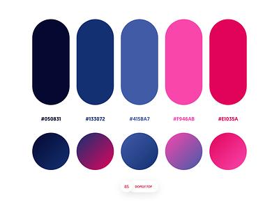 Dopely Colors #85 gradient palette color palette colors