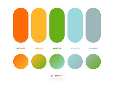 Dopely Colors #88 gradient colours colors palettes adobexd