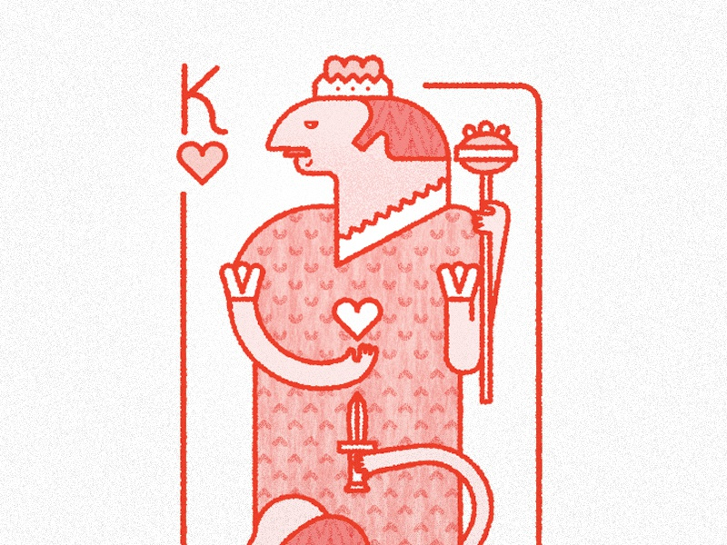 King of hearts heart card poker king