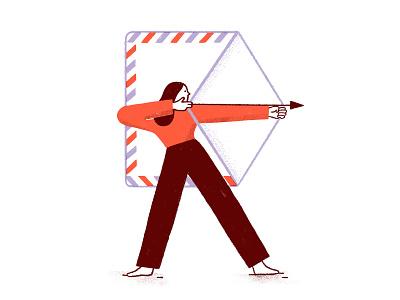 VOTE 🇺🇸 archer arrow vote envelope illustration elections
