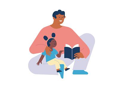 ADHD Association Norway illustration family illustraiton book learn
