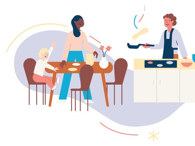 ADHD Association Norway illustration adhd illustration family kitchen cooking