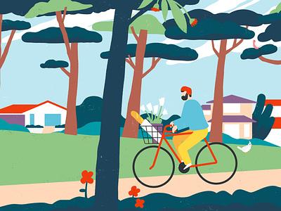 Orana Community ride illustration community bicycle