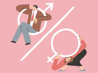 Why do we have to settle for less? balanceforbetter iwd percentage illustration unbalanced unfair women feminism unequality