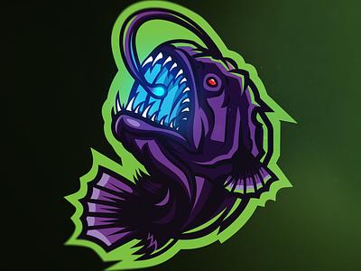 Angler Fish Mascot Logo creature glowing gaming gamers mascotlogo logodesign mascot designer mascot esport logo design dribbble deisgner arizona fish fishing fishes angler fish anglerfish angler