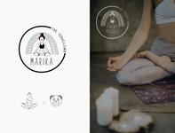 Yogi Clow - personal branding logo clown yoga logo branding icon design illustration
