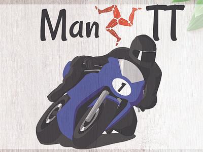 Isle Of Man Manx Tt 2 racing bike manx tt isle of man motor racing motorcycle motorbike vector design illustration