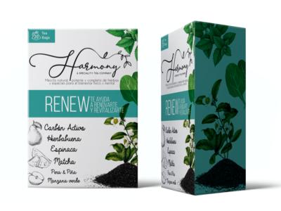 Harmony tea - box packaging