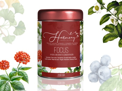 Harmony tea - can packaging