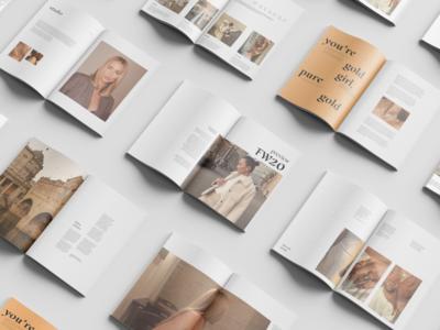 Margaux Mag Mockup branding design blog landing page header layout exploration whitespace clean editorial magazine minimal mockup