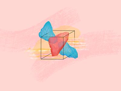 Think Outside the Box design illustration