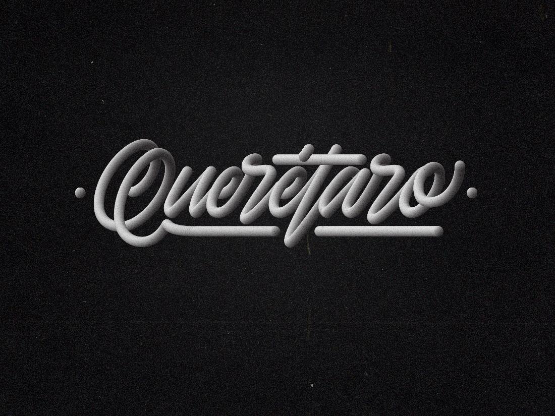 Querétaro - Lettering brush ps illustrator hand lettering 3d lettering texture vector monoline monoline font lettering